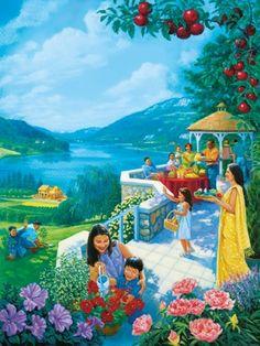 Unas personas en el Paraíso construyen una casa, trabajan la tierra y disfrutan de su producto