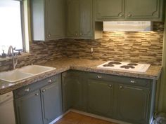 kitchen granite tile countertop and glass backsplash tile art center