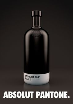 Absolut Vodka Pantone Packaging - Another Cool Project - Ateriet Absolut Vodka, Bar Drinks, Alcoholic Drinks, Beverage, Cocktails, Tequila Day, Rum Bottle, Liqueur, Craft Beer