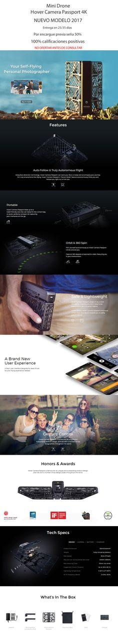 Hover Camera Passport Dron 4k Mini Dron A Pedido - $ 16.999,99 en Mercado Libre