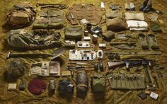 Photographs by Thom Atkinson of military kit through the ages suggest that   while technology evolves apace, the experience of soldiers in the face of   war is unchanging