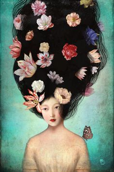 'The Botanist's Daughter' by Christian  Schloe on artflakes.com as poster or art print $22.17