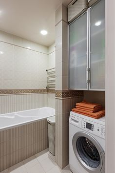 Alternative Places for your Washer, Creative Ideas for Small Spaces Small Space Bathroom, Tiny Bathrooms, Small Space Interior Design, Interior Design Living Room, Modern Spaces, Small Spaces, Maximize Small Space, Best Bathroom Designs, Small Apartment Decorating