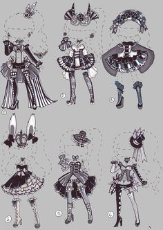 CLOSED-Monochrome Circus by Guppie-Adopts on DeviantArt