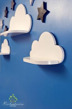 Cloud Shelf Shelf For Baby Nursery Kids Room Wall Decorations Decorations for Bedroom Wooden Shelf Decor Wall Artwork Clouds Childrens room Cloud Shelves, Nursery Shelves, Room Shelves, Shelf Wall, Kids Room Design, Kids Furniture, Furniture Online, Furniture Stores, Furniture Design