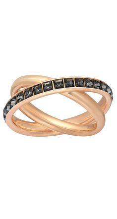 This gorgeous Swarovski rose gold ring will be the center of conversation at cocktail hour.