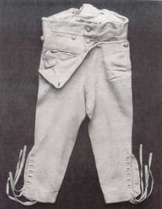 The next item in my men's Regency wardrobe is a pair of breeches. Men had been wearing different forms of breeches since the early sixteenth century. They were made from a wide variety of materials...