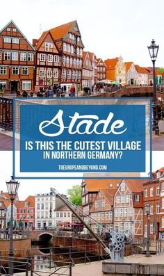 Is Stade the prettiest village on Germany's framework road? Thanks to a long history with the Hanseatic League, Stade is definitely one of Germany's most authentic and beautiful villages. Travel Tips For Europe, Places To Travel, Travel Destinations, Places To Visit, European Destination, European Travel, Beaux Villages, Future Travel, Germany Travel