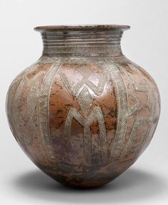 Africa | A large Abuja stoneware water Pot by Ladi Kwali (Nigerian 1925-1984) | circa 1960