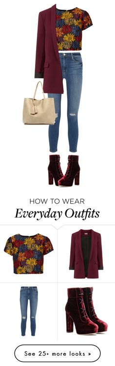"""""""everyday outfit #3"""" by adrianapetrova02 on Polyvore featuring Frame Denim, Alice + Olivia, Jimmy Choo and LULUS"""