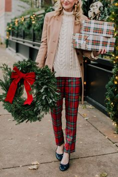 Plaid on Sale - Kelly in the City - Dress up Preppy Christmas, Tartan Christmas, Christmas Fashion, Christmas Shopping, Christmas Clothing, Christmas Time, Christmas Sweaters, Merry Christmas, Holiday Party Outfit