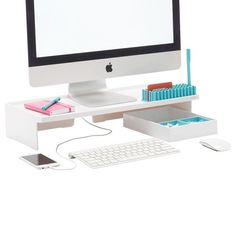 White Poppin Monitor Stand                                                                                                                                                     More