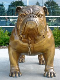 Bulldog Sculpture Spike, Gonzaga University, Spokane WA