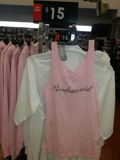 Bride white satin robe kmart 15 my wedding pinterest white pink bridesmaid singlet kmart 15 stopboris Image collections