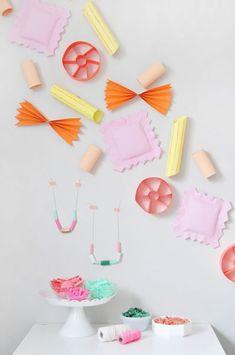 Decoración de fiestas infantiles: ¡pasta gigante! | Fiestas y Cumples