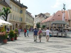 World Great Cities: Main Square in Sibiu (Romania)
