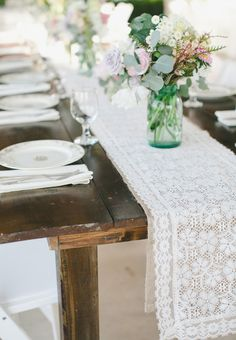 Vintage Table Setting   Garden Wedding   Vintage Furniture Rentals   Austin Wedding   Lace Runner   Southern Social Events + Experiences   Sweet Sunday Events   Caroline Joy Photography