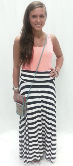 super cute stripped maxi skirt! Check out this site on FB- owned by a family member in MS!!!