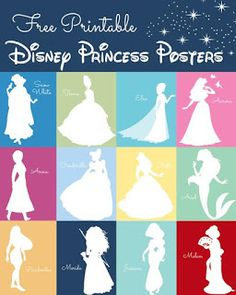 Month of Disney- Printable Disney Princess Posters