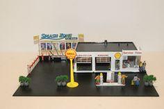 Shell Station, Gas Station, Apple Cider Diet, Aurora, Toy Garage, Splash Zone, Custom Garages, Matchbox Cars, Atlas