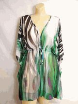 70cc949764 LaPalapa Square Caftan cover-up one size & plus Sea Chic Sarongs, Swimwear  Cover