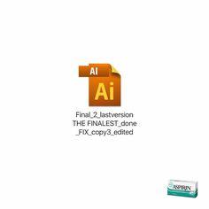 Creative Print Ads, 365 Day Copywriting Challenge - Aspirin