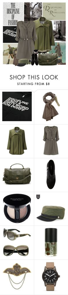 """Disciplined"" by valc5 ❤ liked on Polyvore featuring Ron Dorff, Sinclair, Charlotte Simone, Alpine, Oasis, Proenza Schouler, Simply Vera, Brixton, Yves Saint Laurent and Uslu Airlines"