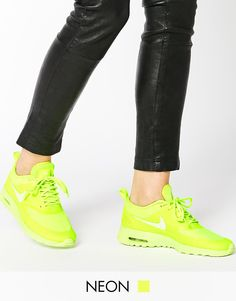 new style 49394 f194c Shop Nike Air Max Thea Volt Neon Trainers at ASOS.