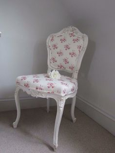 Beautiful Antique chair from Stenvall Interiors. Covered with our Audrey fabric x