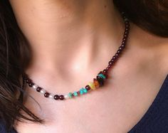 leslieknowlton necklace design - semiprecious stone. The length is flattering and perfect to wear with casual with a t-shirts or silky formal wear. Share the love this Holiday season, Turquoise is the birthstone for December it is a perfect gift for your love ones whose celebrating their birthday this coming month. Visit and share suddenlyseen @ Etsy and find jewels of the southwest. #LeslieKnowlton.