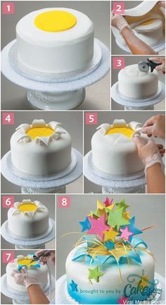 How to Make a Fondant Explosion Cake