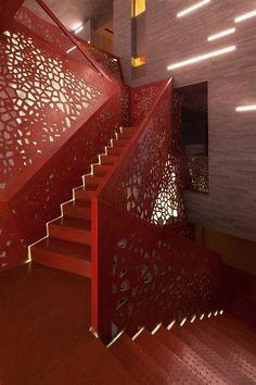 Staircase at Villa Mallorca by Studio Mishin Architectural Bureau & Arup