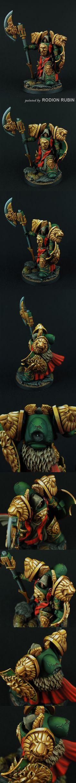 CoolMiniOrNot - Lion SF Knight by Rodion Rubin #warhammer #40k miniature space marine