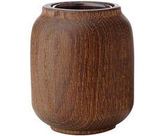 Vase Poppy, Dunkles Eichenholz