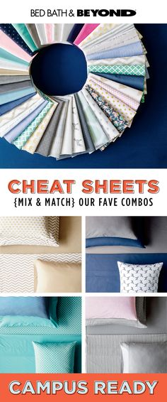 Like the feel of a favorite tee or organic cotton? Need a no-fade pillowcase that resists discoloration from acne creams (we can relate!)? Our sheets do it all and you can mix and match prints, patterns, and solids to your heart's content. #campusready