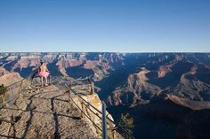 tutu guy looking over grand canyon