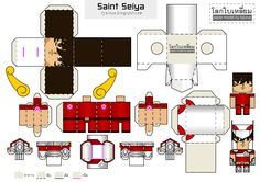 Image detail for -Blog Paper Toy papertoy Saint Seiya template preview Papercraft Saint ...