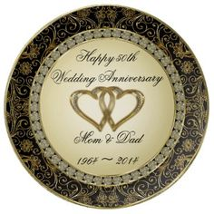 50th Wedding Anniversary Porcelain Plate Marylandchina_plate