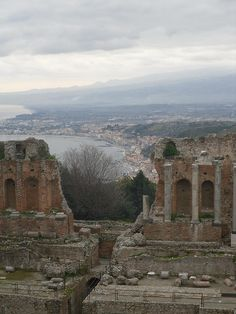 Taormina, Sicily, Italy - I was here with my mom. Visiting these ancient temples makes one feel small