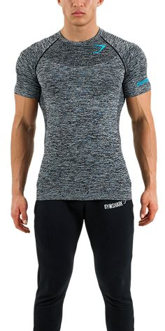 Mens Seamless T-Shirt | Melanite | Mens T-Shirt | Gymshark