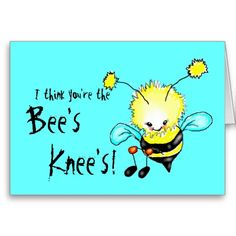 I think you're the bee's knee's! All purpose blank card for $3.15 #beesknees #cards