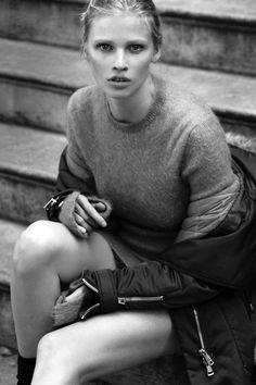 "senyahearts:  Lara Stone in ""Super Normal Super Models"" for W Magazine, September 2014 Photographed by: Mert Alas & Marcus Piggott"
