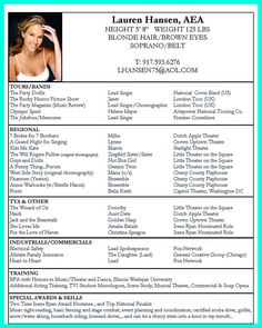 resume templates for dance teachers sample resume amp templates ...