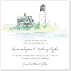 Save the date cards for a beach wedding
