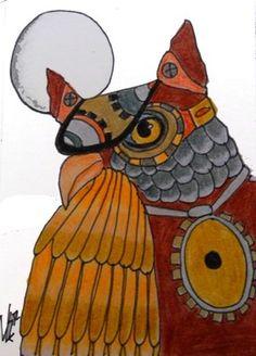 STEAMPUNK OWL #2 ACEO ON EBAY