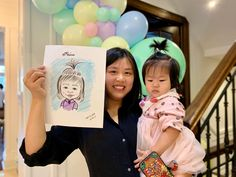 This is a great caricature drawing drawn from Niloo the caricature artist at a recent kids birthday party. Caricature Artist, Caricature Drawing, Birthday Parties, Portrait, Drawings, Illustration, Party, Kids, Anniversary Parties