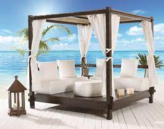 Picture of Sushi, parasol Sun Umbrella, Beach Umbrella, Bali Huts, Beach Cabana, Pool Accessories, Backyard, Patio, Terrazzo, Outdoor Furniture