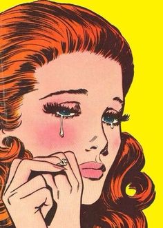 Find images and videos about art, black and white and sad on We Heart It - the app to get lost in what you love. Vintage Pop Art, Retro Art, Retro Girls, Vintage Girls, Pop Art Drawing, Art Drawings, Comic Kunst, Comic Art, Comics Vintage