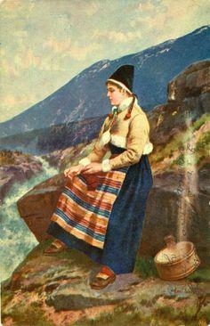 Kunstnerkort Axel Ender Utg Mittet tidlig 1900-tall
