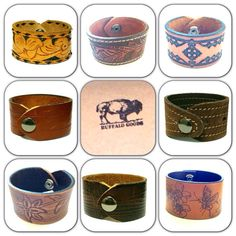 Wholesale Package for Boutique -Leather Cuffs on Etsy, $132.00